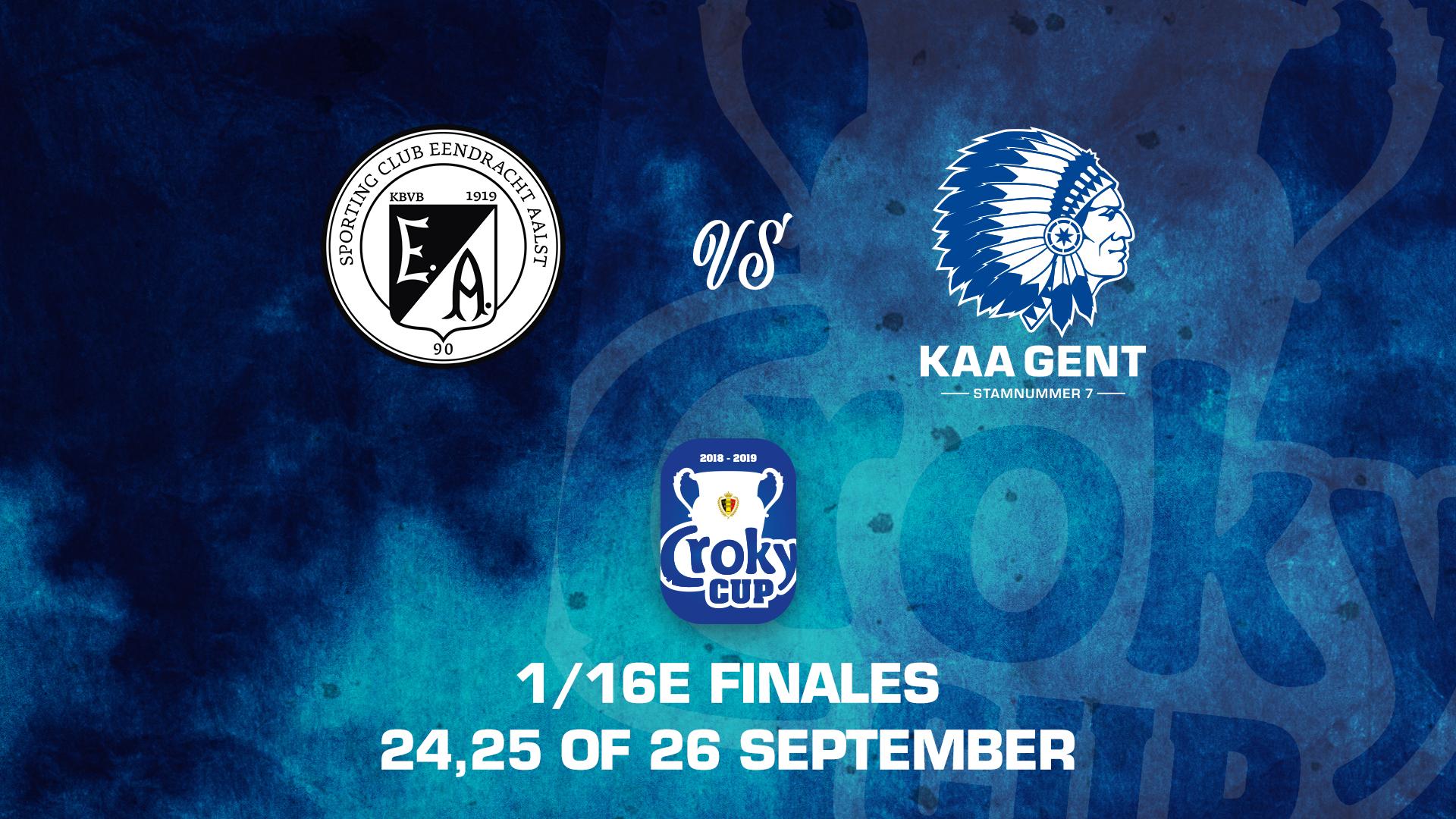 1/16de finale Croky Cup tegen Eendracht Aalst