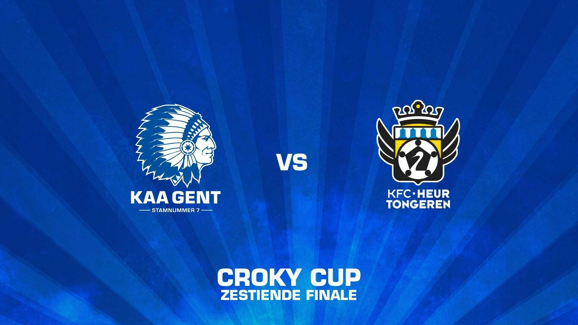 1/16de finale Croky Cup tegen KFC Heur-Tongeren