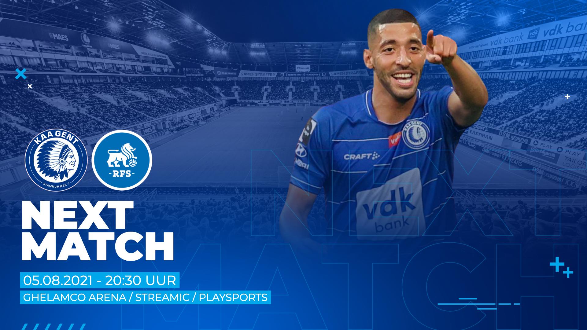 KAA Gent - FK RFS live te volgen via Streamic en PlaySports