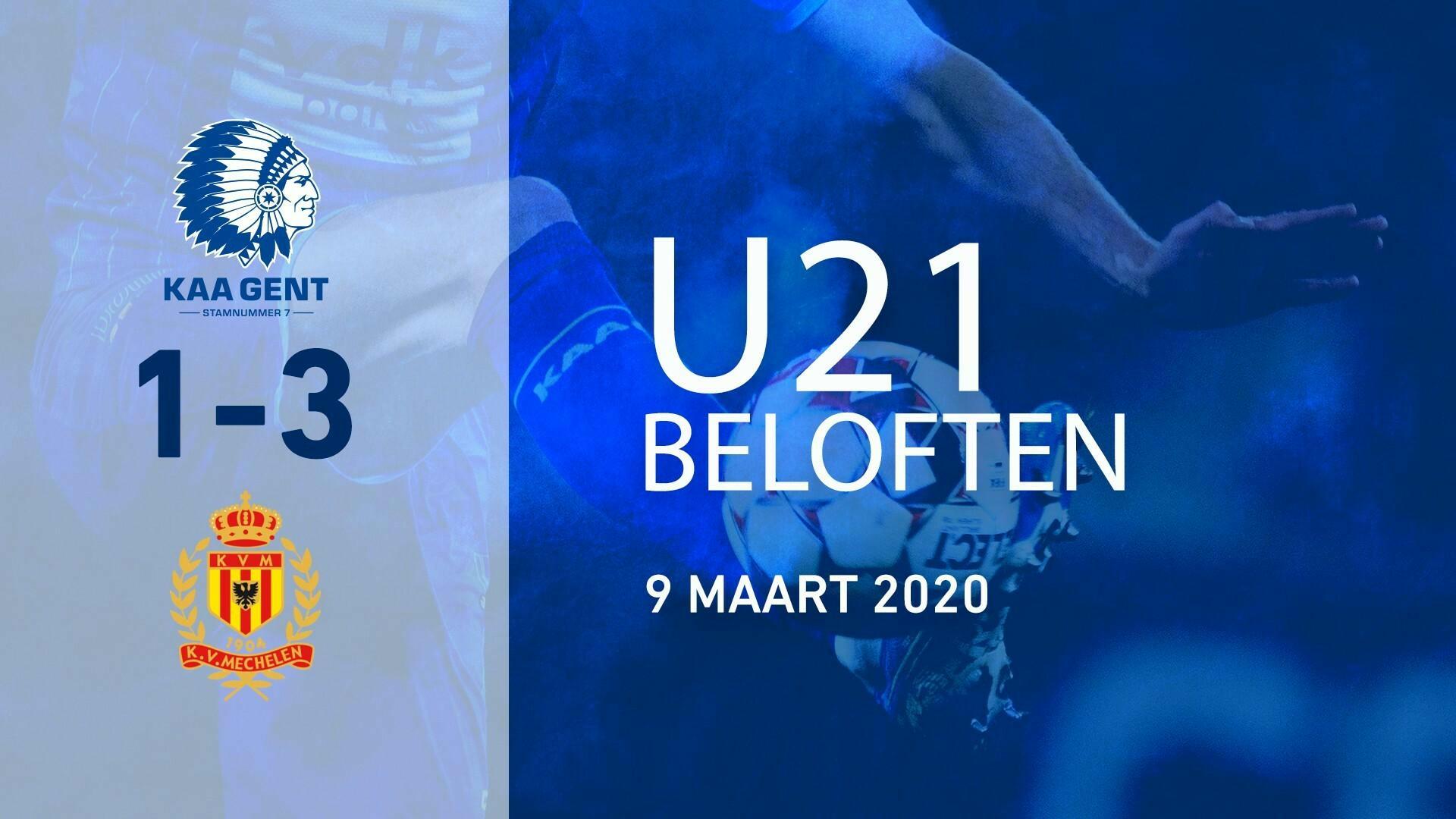 Beloften onderuit tegen KV Mechelen